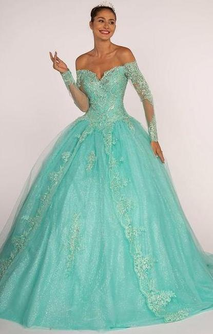 c1697a46d33 Embroidery Jewel Detailed Cut-out Back Quinceanera Prom Dress GSGL2603
