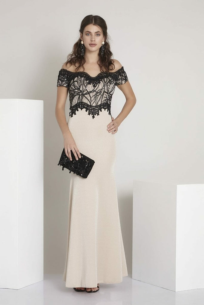 Off-Shoulder Sweetheart Neckline Long Evening Dress TK791831