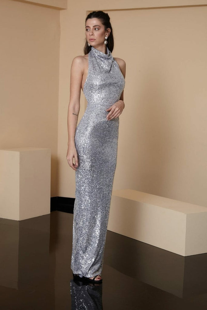 Sequined Bodice Long Prom Evening Dress TK1336376
