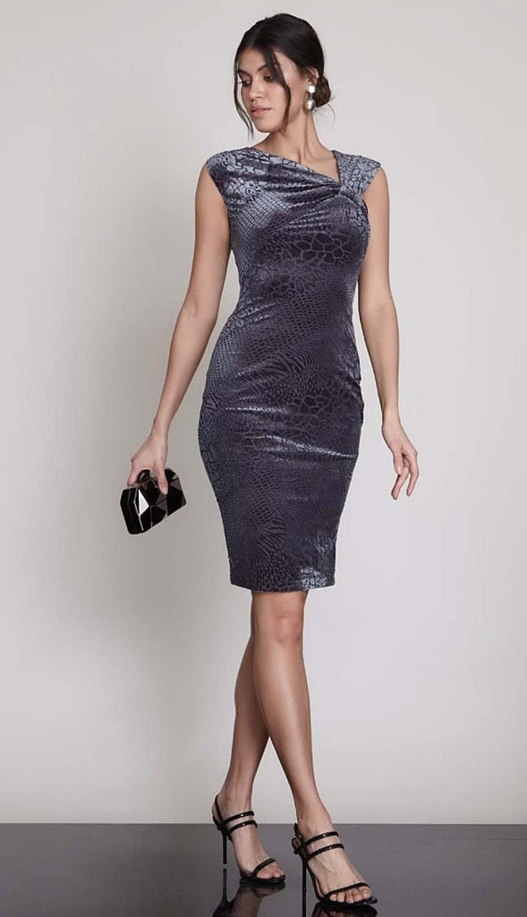 One Shoulder Neckline Sheath Shape Short Evening Dress TK1092965