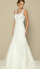 Sleeveless Illusion Neckline Wedding Long Dress JT#654W