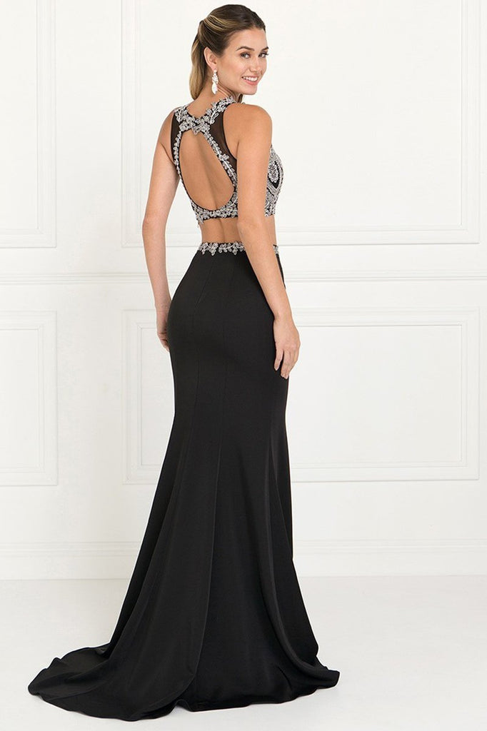 Full Embroidered Top Jersey Two-Piece Long Formal Dresses GSGL2419-Prom Dresses-smcfashion.com