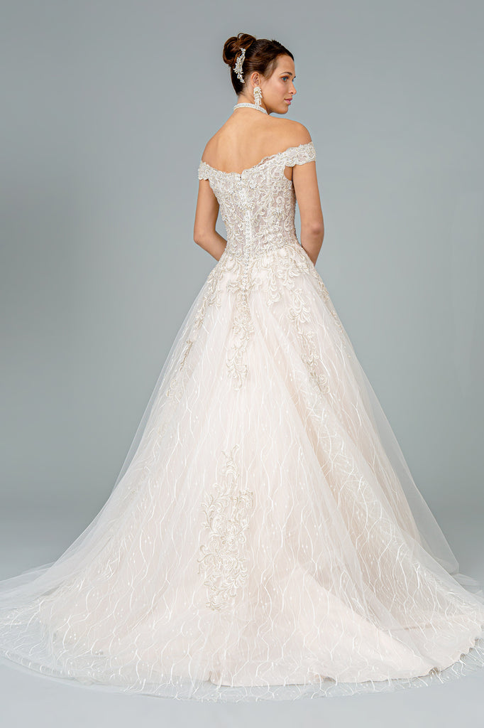 Sweetheart Neck Lace A-Line Wedding Dress GSGL1832