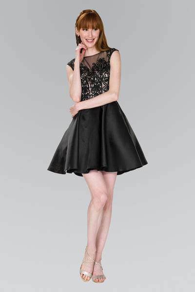 Illusion  Sleeveless Party Short Dress GSGS2388
