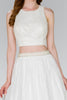 Ivory Sleeveless Evening Short Dress GSGS2404