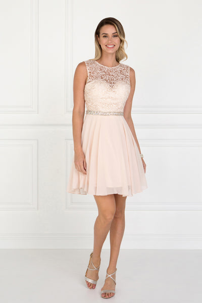 Illusion Sweetheart Neckline Sleeveless Short Cocktail Dress GS2410