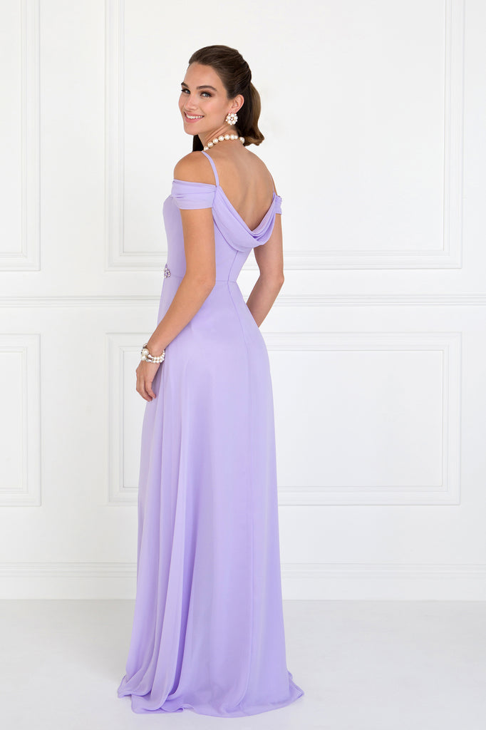 Off Shoulder A-Line Shape Evening Dress GSGL1522