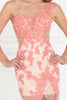 One Shoulder Neckline Floral Bodice Long Mermaid Prom Dress GSGL2051