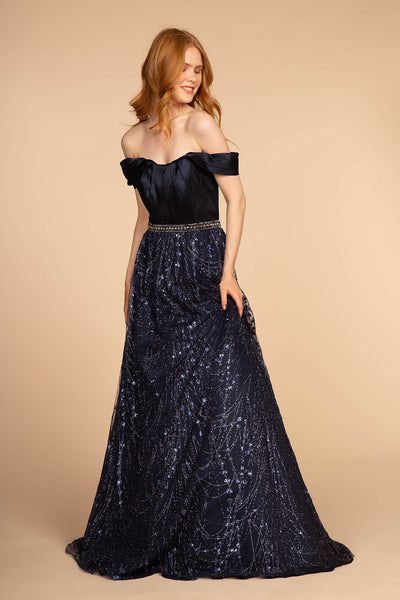 NEW Off-Shoulder Sleeveless Long A-Line Prom Dress GSGL2530