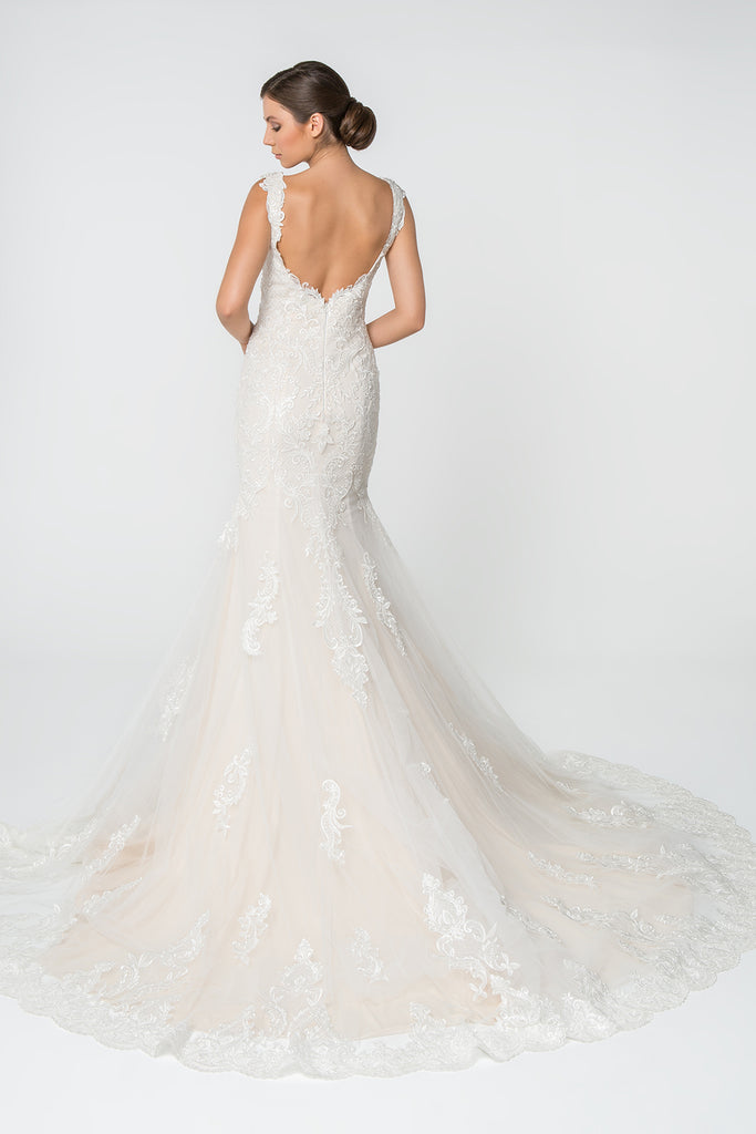 Sweetheart Neckline Long Mermaid Wedding Dress GSGL2819