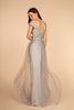 V-Neckline Sleeveless A-line Long Prom Dress GSGL2560