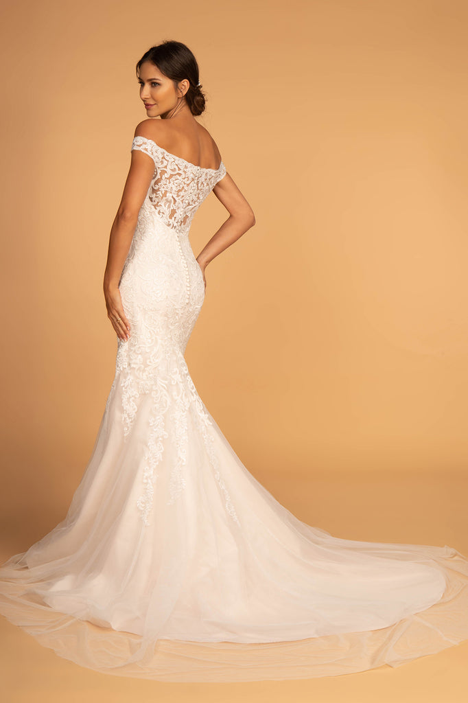 Off Shoulder Mermaid Shape Wedding Dress GSGL2593