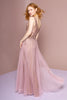 V-Neckline Jeweled Top Sleeveless A-line Long Prom Dress GSGL2618