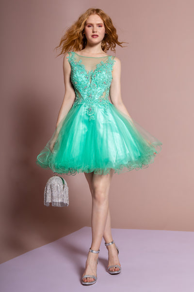 Illusion Sweetheart Party Short Dress GSGS2156