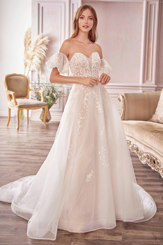Sweetheart Neck Lace Off Shoulder Wedding Dress ALA1014