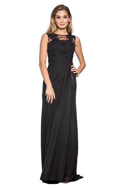 Long Cute Evening Gowns with Illusion Neckline GSGL1375-Sale-smcfashion.com