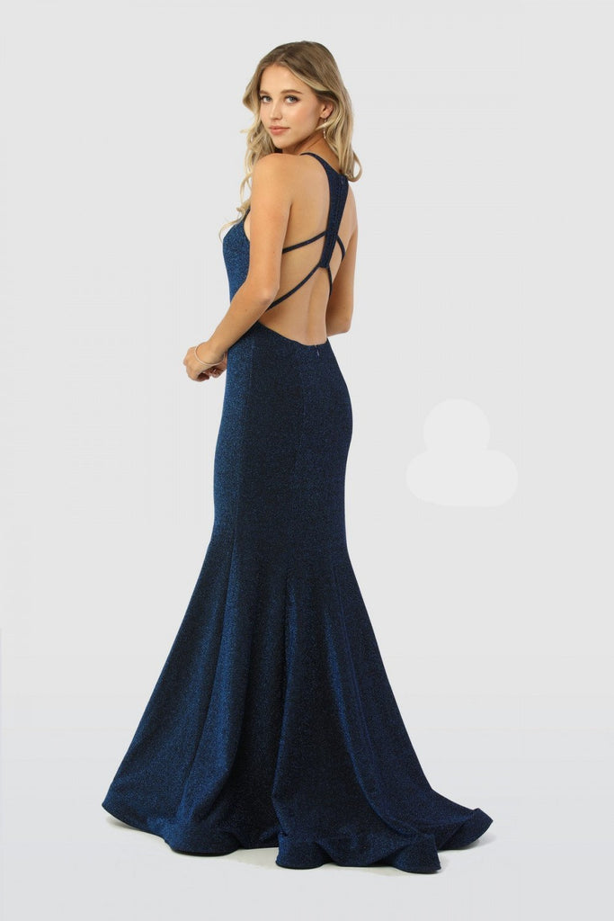 Halter Neckline Sleeveless Mermaid Long Evening Dress NXC208