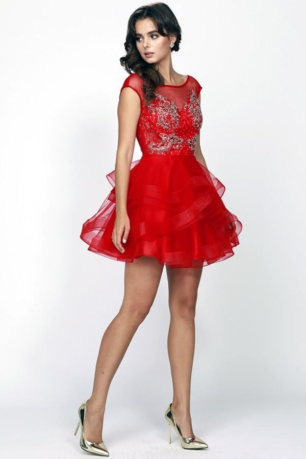 Wholesale Women Mini Short Homecoming Evening Prom Dress JT820-smcfashion.com
