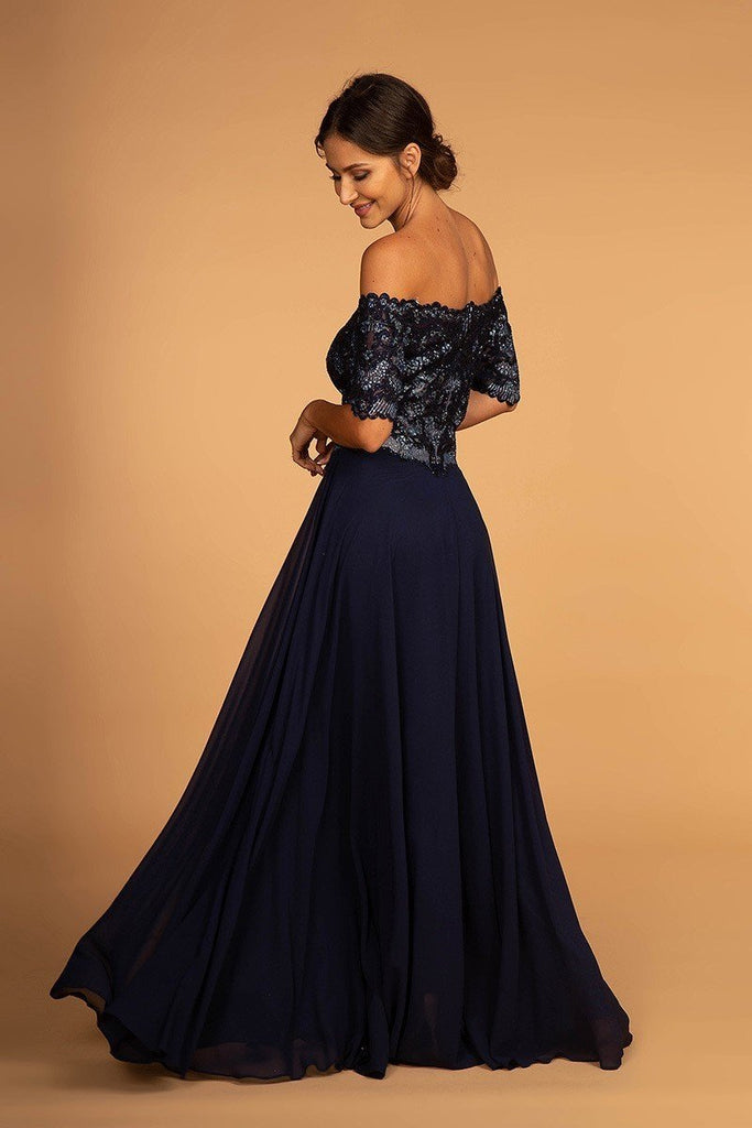 Affordable Mother Of The Bride Off The Shoulder Gown Dress GSGS2525-Mother of the Bride Dresses | Smcfashion.com-smcfashion.com