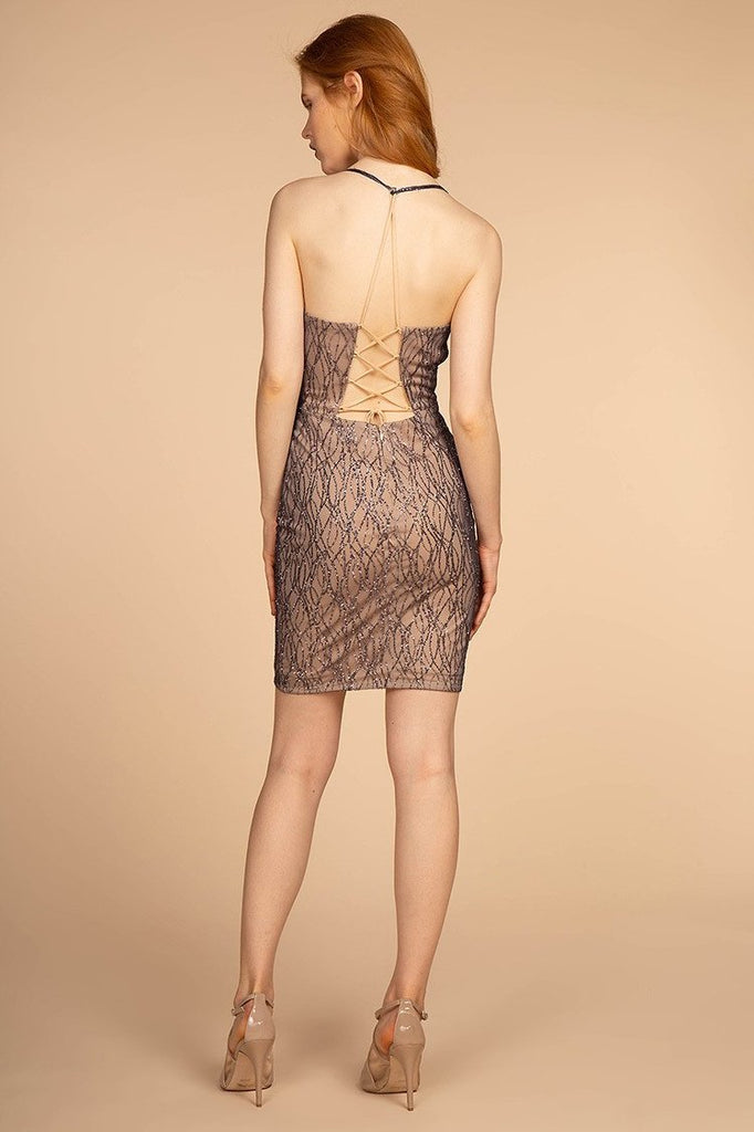Rose Gold Affordable Cocktail Dress GSGS1634 1