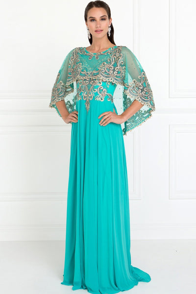 Mother Of Bride Dress With Light Mantle GSGL1527-Mother of the Bride Dresses-smcfashion.com