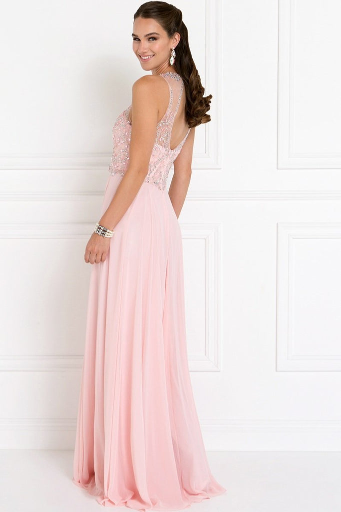Illusion Amazing Long Formal Prom Dresses GSGL1572-Prom Dresses-smcfashion.com