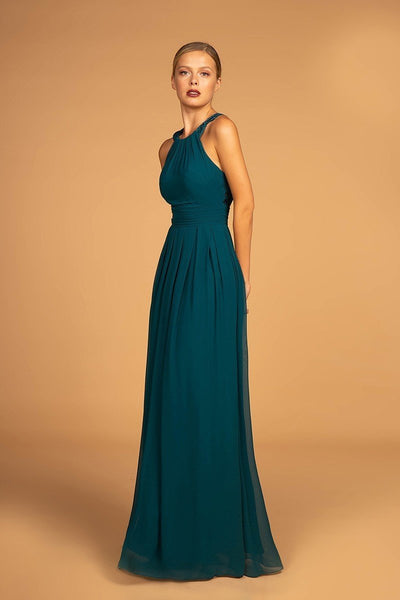Inexpensive Evening Open Back Bridsmaid A-Line Dress Gown GSGL2605-Bridesmaid Dresses | Cheap Bridesmaid Dresses-smcfashion.com