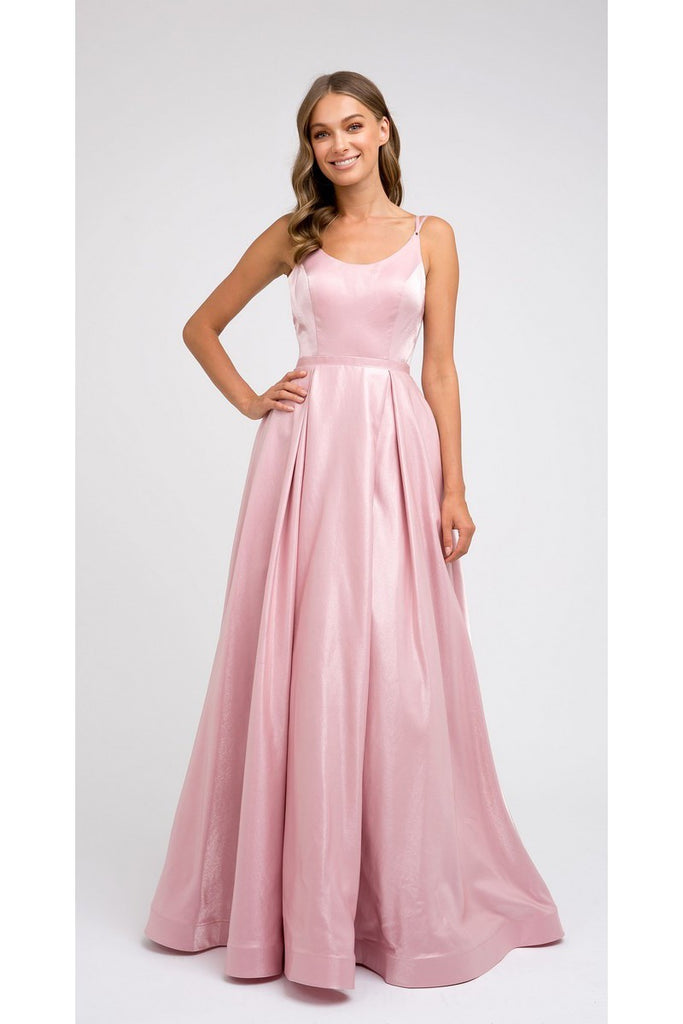 Rounded Neckline A-line Prom Dress JT244