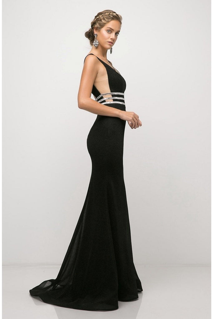 Sleeveless V-Neckline Mermaid Long Prom Dress CDUK022 - smcfashion.com