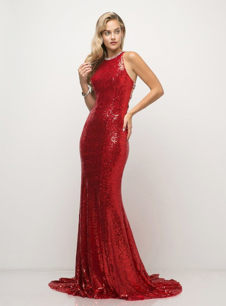 Wholesale Glitter Beaded Evening Prom Formal Dress CDUW202