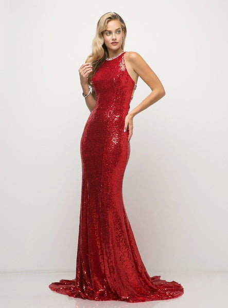 Wholesale Glitter Beaded Evening Prom Formal Dress CDUW202-Evening Dresses | Smcfashion.com-smcfashion.com