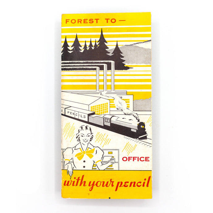 "Vintage Advertising - Pencil Brochure - ""Forest to Office"""