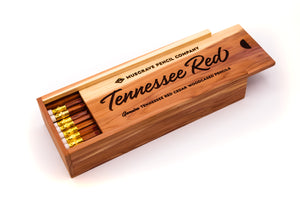 24-pack Tennessee Red™ Pencil — Cedar Box Set with Tennessee Red Logo