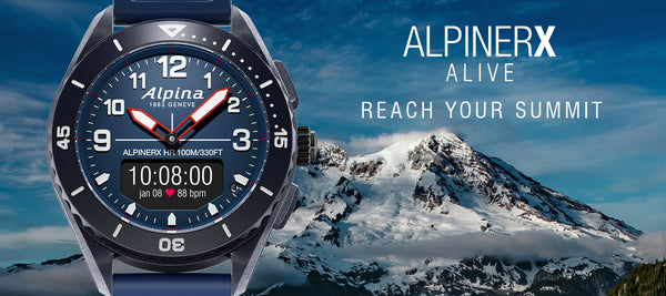 ALPINERX ALIVE: ALPINA'S FIRST SMARTWATCH FOR URBAN SPORTS AFICIONADOS