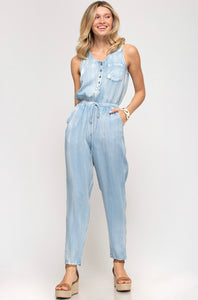Soft Denim Jumpsuit