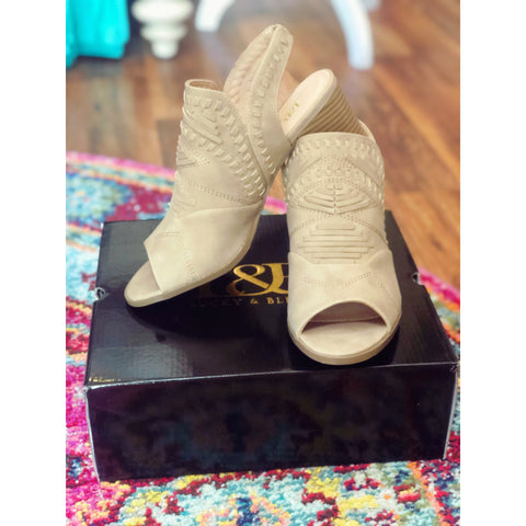 Taupe Open Toed Booties - Texlynn Grace Boutique