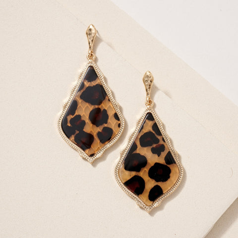 Marbled Leopard Earrings