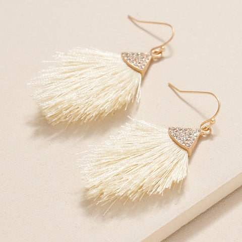 Mini Favorite Frilly Earrings with Rhinestones