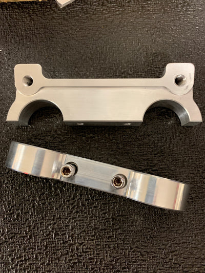 Angled billet gauge bracket