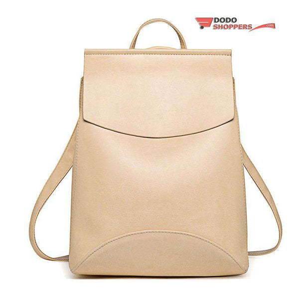 Female school backpack leather girls bag – DoDo Shoppers f57c9f2a1c