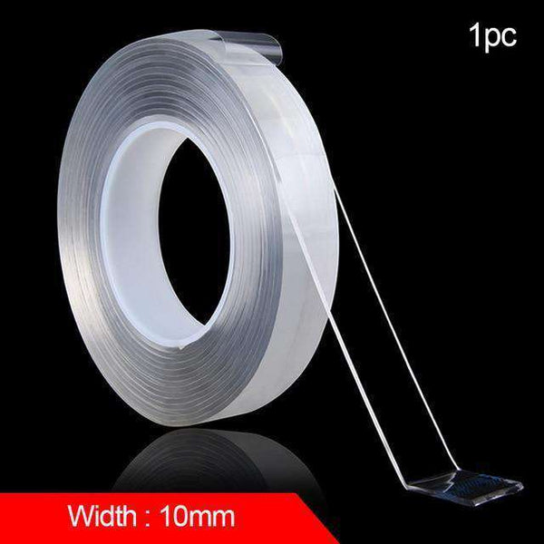 Double-sided washable adhesive tape