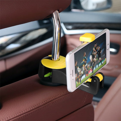 Car back seat hook and phone holder