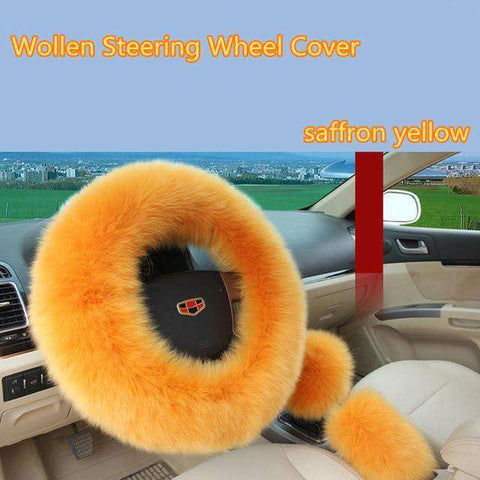Winter steering wheel covers