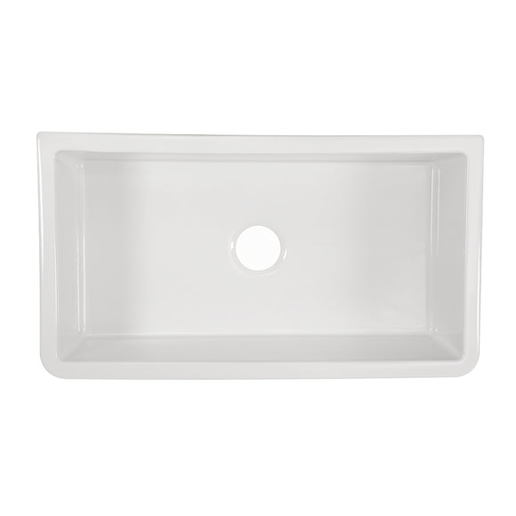 "33"" Fireclay Single Bowl Reversible Sink - FCFA-33-SGL"