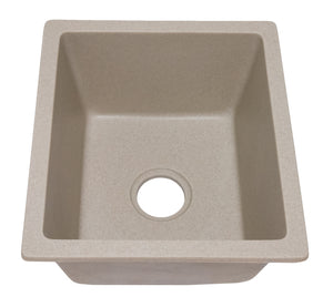 "16"" x 18"" Undermount Single Bowl Granite Quartz Composite Laundry – Bar Sink, 4:GCU-SGL1618"
