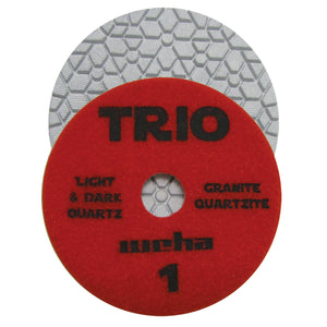 "Weha 4"" Trio 3 Step Diamond Polishing Pad - Wet"