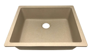 "24"" Undermount Single Bowl Granite Quartz Composite Laundry – Bar Sink, 4:GCU-SGL2418"