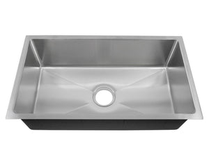 Signature Series SDUr15-18-SGL 31189 Single Bowl Stainless Sink, 18 gauge, Small Radius Corners,  31 x 18 x 9