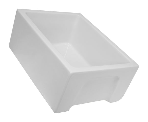 "24"" Fireclay Single Bowl Sink - FCFA-24-SGL"