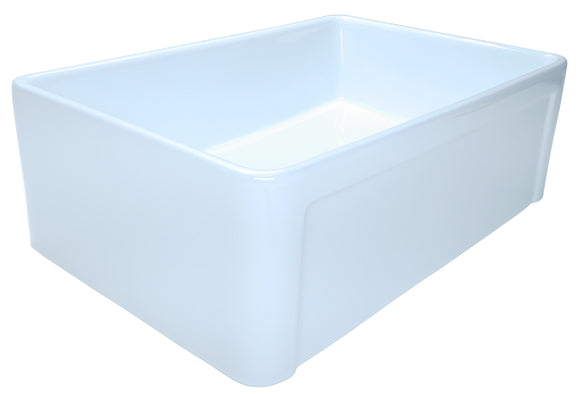 "30"" Ceramic Single Bowl Sink - CFA-30-sgl"